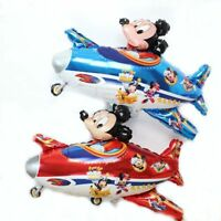 Mickey Minnie Mouse Flying The Plane Foil Balloons Kids Birthday Party Supplies