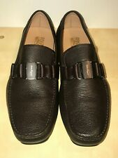 Salvatore Sardegna  Brown Leather Buckle Loafers Slip On Shoes Men's 11 WIDE