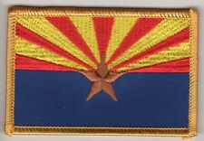 Arizona Flag Patch Embroidered Iron On Applique