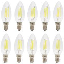 10x E14 LED Lampe 4W Filament Gluehfaden LED Birne Kerzenform 6000K Kaltweiß
