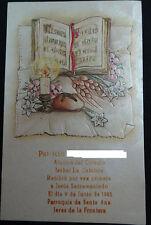 ESTAMPA PRIMERA COMUNION PARROQUIA SANTA ANA JEREZ 1985 HOLY CARD SANTINI CC1249