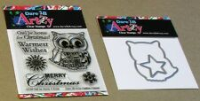 "DARE 2B ARTZY ""OWL BE HOME 4 XMAS"" CLEAR STAMP SET & DIE SET - NEW"