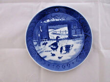 "Royal Copenhagen Denmark ""In The Old Farmyard"" Plate Dish 1969"