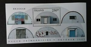 Iceland 2003 M/S 1058 Stamp Day - Barrack Converted to House U/M