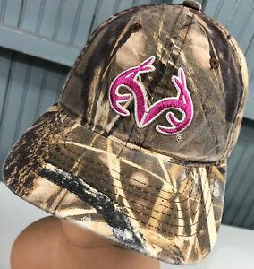 Realtree Camo Hunting Pink Logo Adjustable Baseball Cap Hat