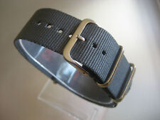 Relojes pulsera nylon gris 24 mm OTAN banda hebilla textil