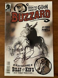 Buzzard #1 (2010) 1st Print SIGNED SKETCH ERIC POWELL DARK HORSE VF/NM LOW RUN