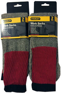 STANLEY 4- Pack Cushioned Work Socks Fit Men's Shoe Sizes 6-12  NEW