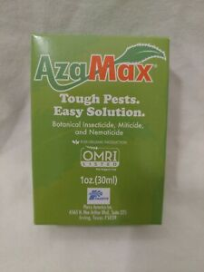 AzaMax Organic Botanical Insecticide Miticide Nematicide 1 ounce oz 30ml OMRI