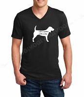 Men's V-neck Life Is Better With A Dog #2 T-Shirt Animal Rescue Pet Lovers Tee