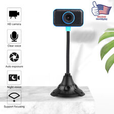 USB2.0 HD Webcam Camera Web Cam For Computer PC Laptop Desktop With Microphone