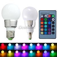 E27 E14 B22 3/10W Colors Changing RGB LED Light Bayonet Bulb Lamp Remote Control
