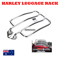 Chrome Luggage Carrier Rack Solo Seat Harley Sportster XL 883 1200 2004-2012