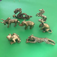 Mini Brass Statues - Animal Figures Horse, Elephant, Turtle, Dragon 2 to 3.5 cm