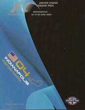 2004 Formula-1 United States Grand Prix Program F-1 Michael Schumacher Ferrari