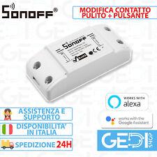 SONOFF Basic R2 MODIFICA Pulsante + Contatto Pulito Domotica Wifi interruttore