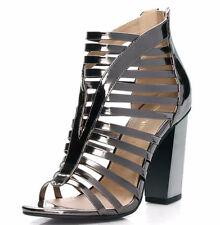 Sexy Women's Strappy Zip Back Sandal Heels Size 9