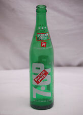 Old Vintage Sugar Free 7-Up Beverages Soda Pop Bottle 16 fl oz 1 Pint A 19 76