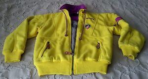 Vintage Nevica FS Quilted Fleece Full Zip Winter Ski Snowboard Jacket Womens 8