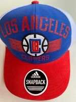 Los Angeles Clippers Adidas NBA Structured Adjustable Cap Hat Blue Red White