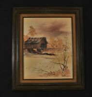 JIM PATTERSON Original Oil Painting. Signed & Framed. Old Bridge 27 x 23