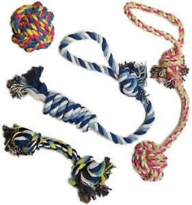 Otterly Pets Puppy Dog Pet Rope Toys For Small to Medium Dogs (Set of 4) New