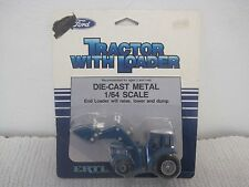 NOS 1986 ERTL Blue Ford TW-35 Tractor With Loader #828 1:64 Die Cast
