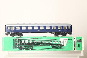 Märklin H0 4032 Tin D-Coaches 11853 Stg Blue 1. Kl.schlußlicht Boxed 169667 47)