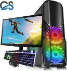 "Gaming Pc Computer With Aoc 21.5"" Monitor Core I7 16gb 1tb Windows 10 2gb Gt710"