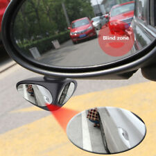 1pc Black 360° Car Left Rearview Double Rear View Mirror Blind Spot Adjustable