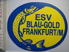 Aufkleber Sticker - ESV Blau Gold Frankfurt/M - Angeln - Fische (1335)
