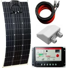 10A LCD Controller 2x USB 3m cable 12v Charger Kit 50w Flex ETFE Solar Panel