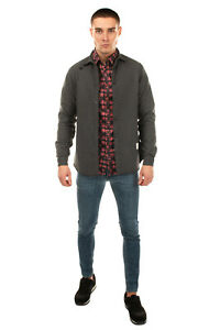 RRP€135 THE EDITOR Overshirt Size XL Embroidered Star Popper Front Made in Italy