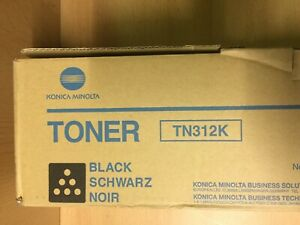 Konica Minolta TN312K - New / Unused Black Toner Print Cartridge / 8938-705