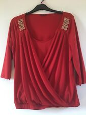 Russet Wrap Top With Gold Embelishment 18