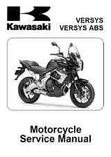 Kawasaki Versys 650 & ABS 2010 2011 2012 2013 2014 service manual binder
