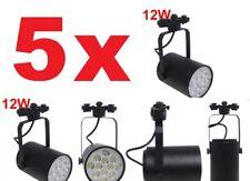 5x 12W Black LED Track Light Spotlights Ceiling Adjustable Rail Track Lamp