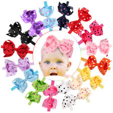 6 Inches 16 Lot Baby Girl Big Bow Headbands Mix Colors Hair Bows for Infant Head