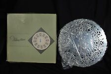 Vintage: WILLIAM ADAMS Hand Crafted Silver Plate Pierced Trivet. ( F )  Italy