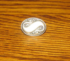 """""""S"""" S Letter Silver Color Metal Tie Clip Mens Jewelry Capital"""