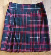 VIVIEN CARON Size 10 Skit Kilt Red/Black Check Tartan Wraparound VGC Women's
