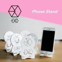 Kpop EXO Logo Cute Wood Portable Stand Holder Bracket for Mobile Phone Tablet