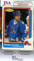 Peter Stastny JSA Coa Autograph 1986 OPC Hand Signed