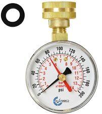 Carbo Instruments 2 12 Water Pressure Test Gauge 200 Psi 34 Female Hose