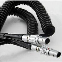 New  Lemo 5 PIN  Coiled  Cable Time Code For SOUND DEVICES ZAXCOM DENECKE