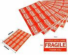 Fragile Handle With Care Thank You Label 76mmx50mm Sticker 10 20 50 100 150 200