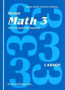 Saxon Math 3 Teacher's edition by SAXON PUBLISHERS