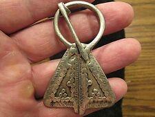 Authentic Viking silver omega shaped fibula,Medieval silver fibula 900-1000Ad.!