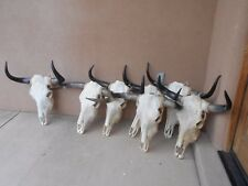 """(ONE) LARGE 23"""" to 28"""" wide BULL SKULL POLISHED HORN,LONGHORN,cow STEER,mounted"""