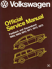 New VW Type 3 Official Service Manual Hardcover 1968-1973